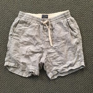J Crew Dock Shorts - Grey Linen